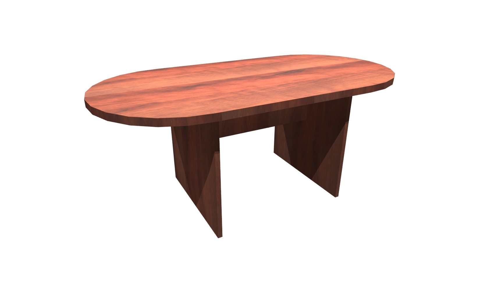FT Cherry Racetrack Conference Table - 6 ft conference table