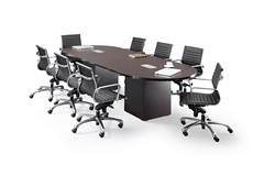 Racetrack Conference Table with Chairs
