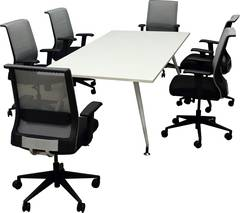 White Modern Conference Table