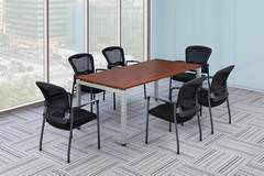 Cherry Rectangular Conference Table with Chairs
