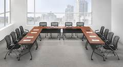 Cherry U Shape Conference Table