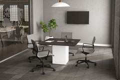 Modern Square Conference Table with Chairs
