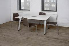 Rectangular White Conference Table