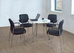 Small 4 Person White Conference Table