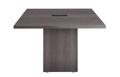 Gray Square Conference Table