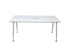 Modern White Conference Table