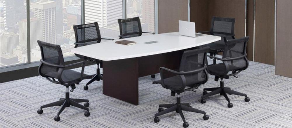 Strange 20 Ft White Modern Walnut Boat Shaped Conference Table Dailytribune Chair Design For Home Dailytribuneorg