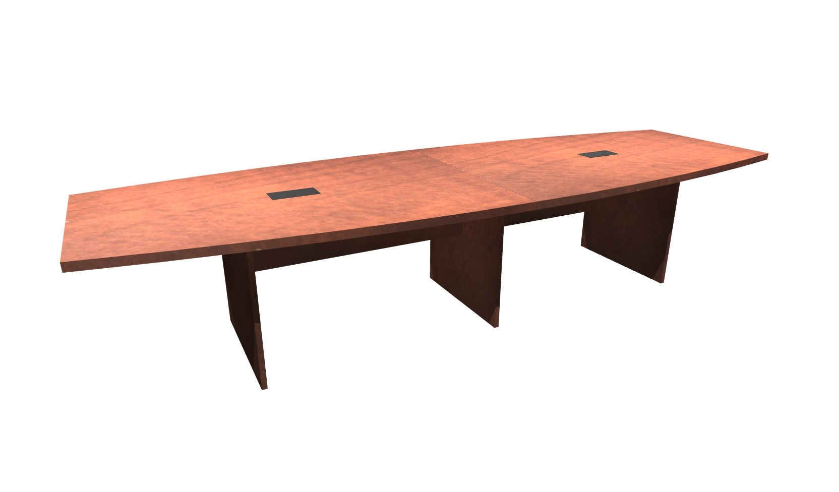 FT Cherry Boat Shaped Conference Table - 12 foot boat shaped conference table