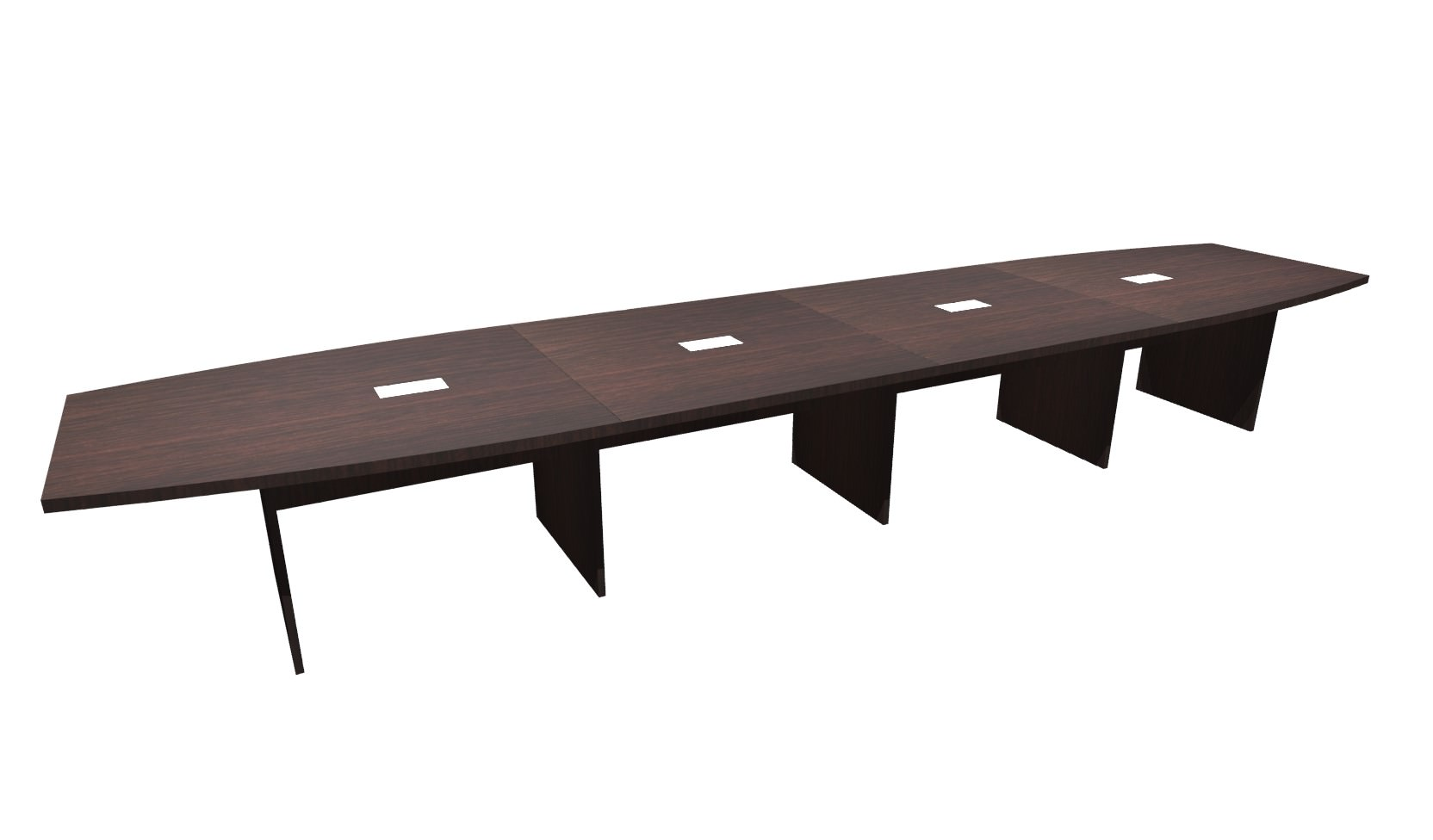 FT Espresso Boat Shaped Conference Table - Espresso conference table