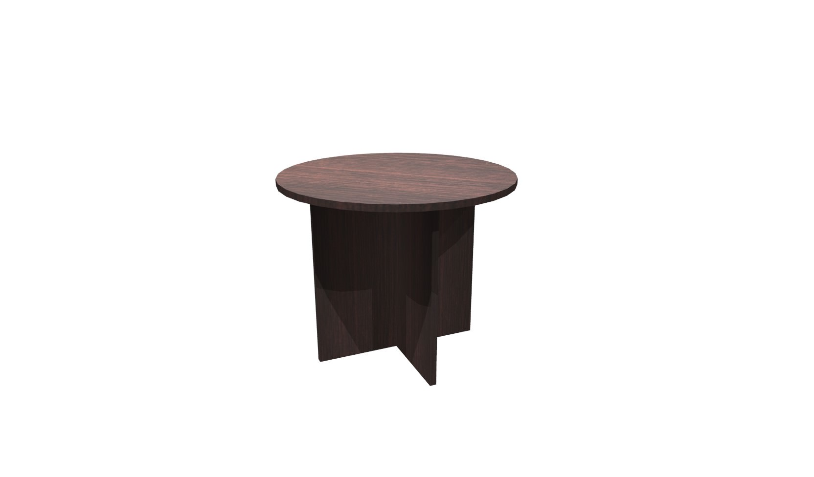 Inch Espresso Round Conference Table - 36 inch conference table