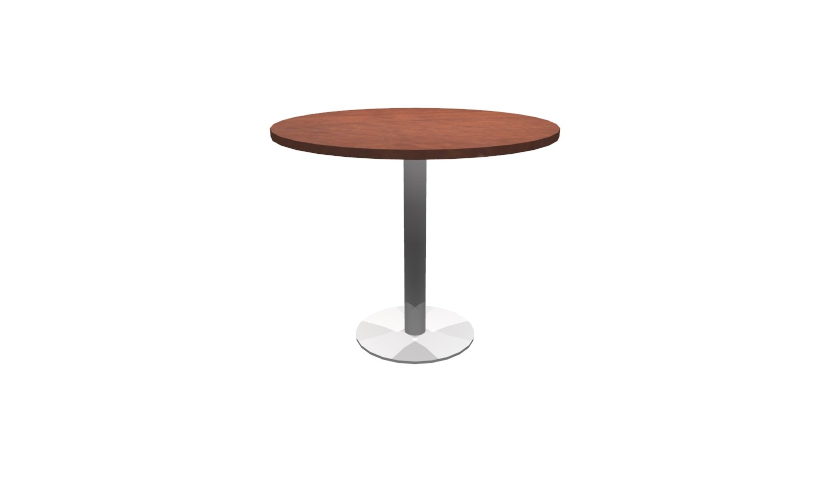 Inch Round Conference Table Cherry Brushed Metal - 36 inch round conference table
