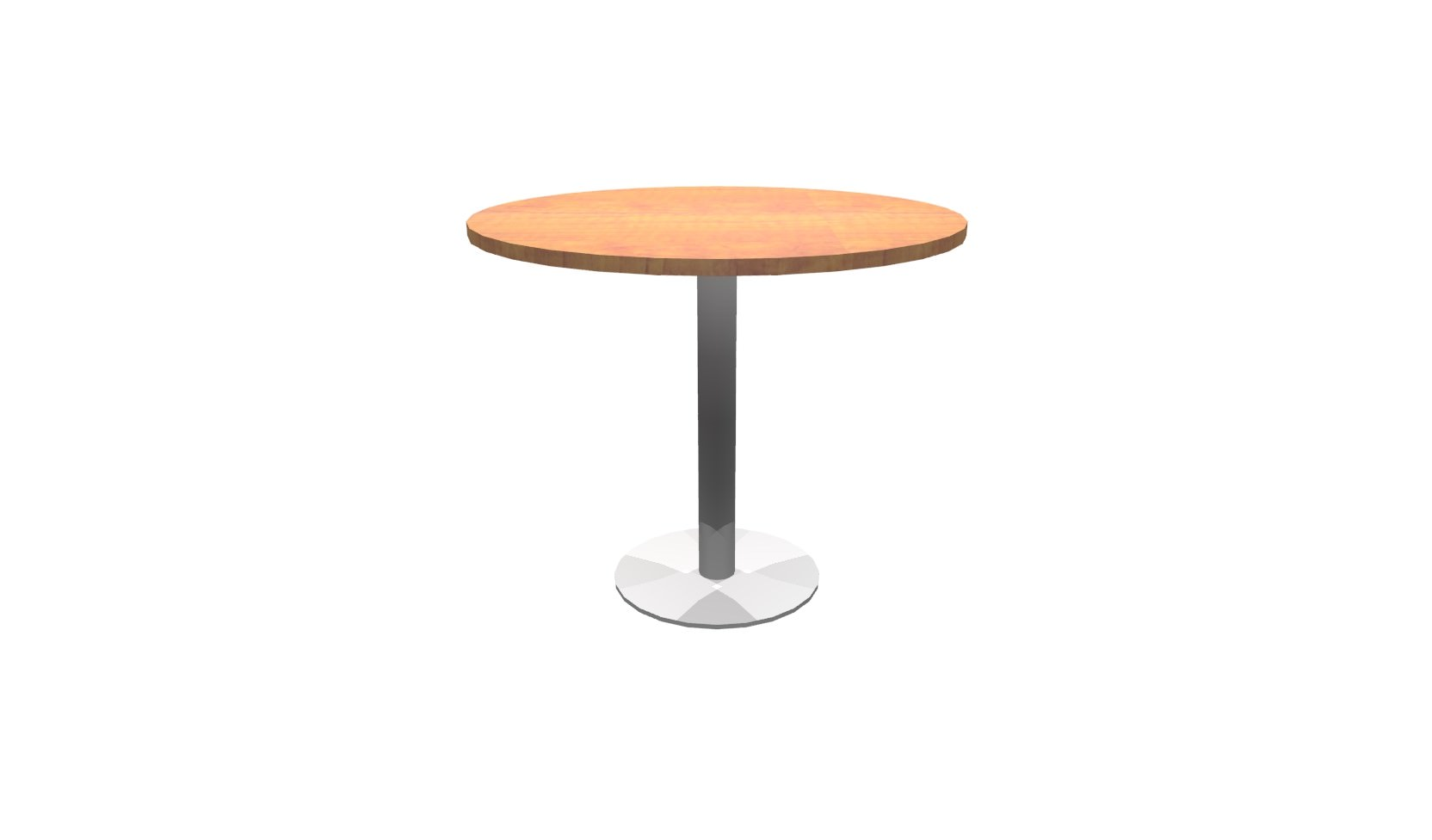 36 Inch Round Conference Table   (Honey / Brushed Metal)