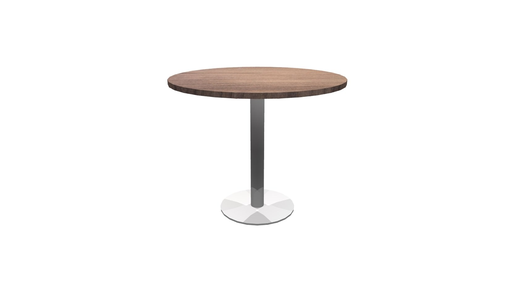 Inch Round Conference Table Modern Walnut Brushed Metal - 36 inch round conference table
