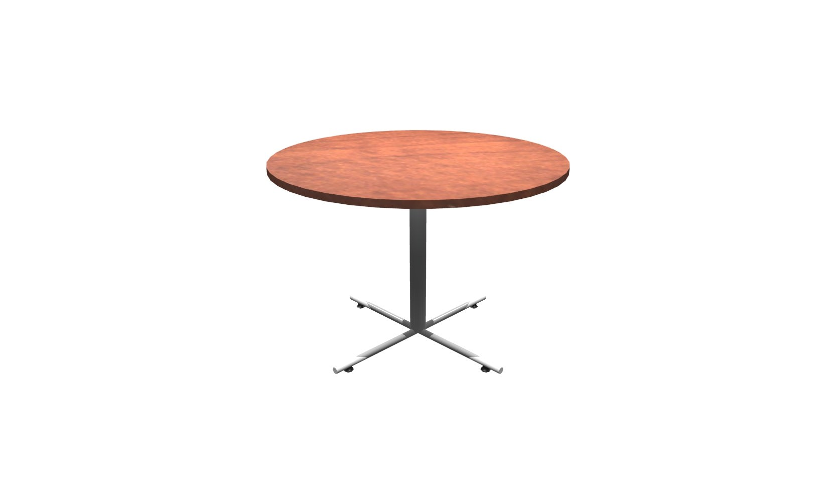 Inch Round Conference Table Cherry Chrome - 42 inch round conference table