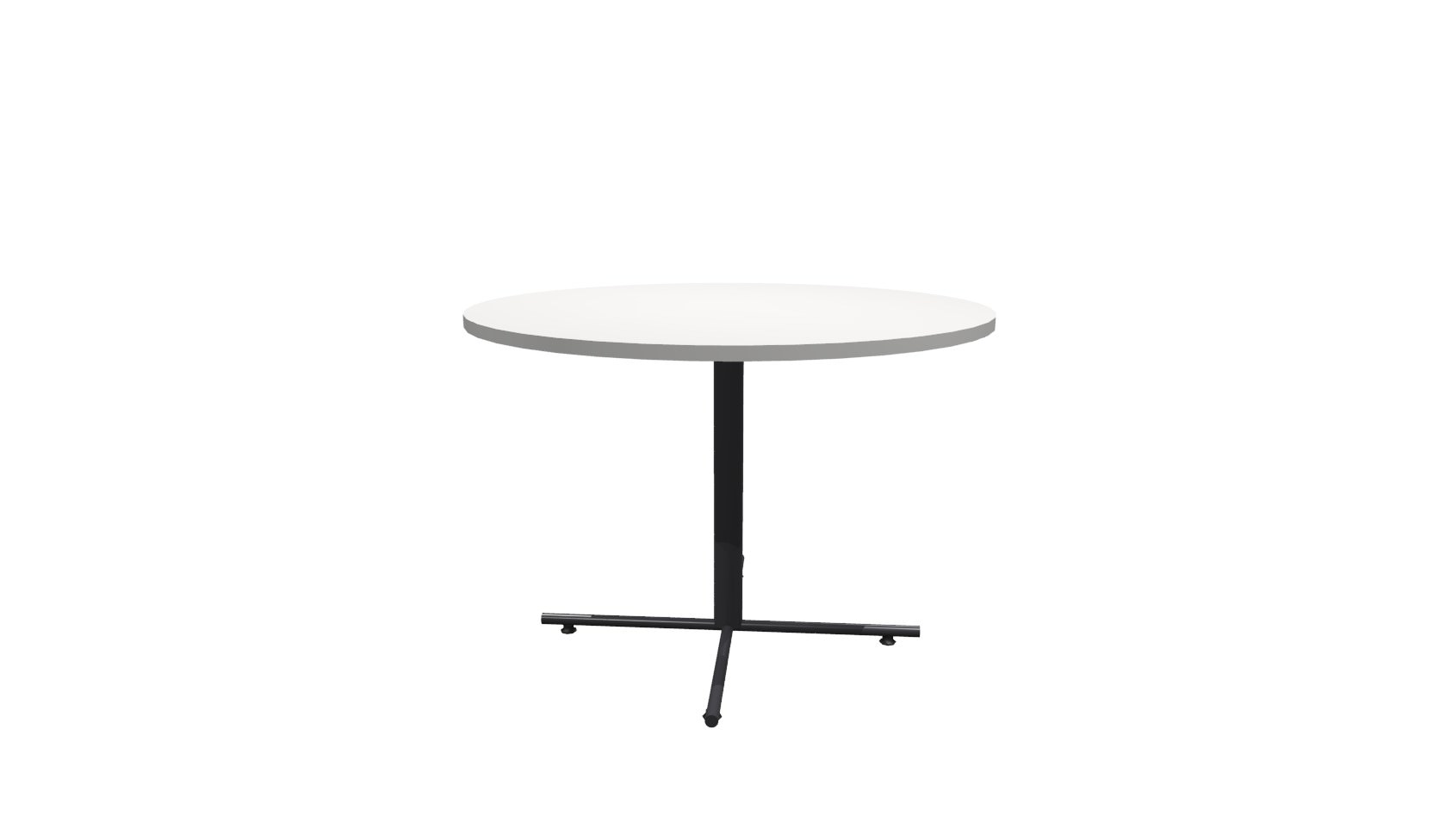Inch Round Conference Table White Black - 42 inch round conference table