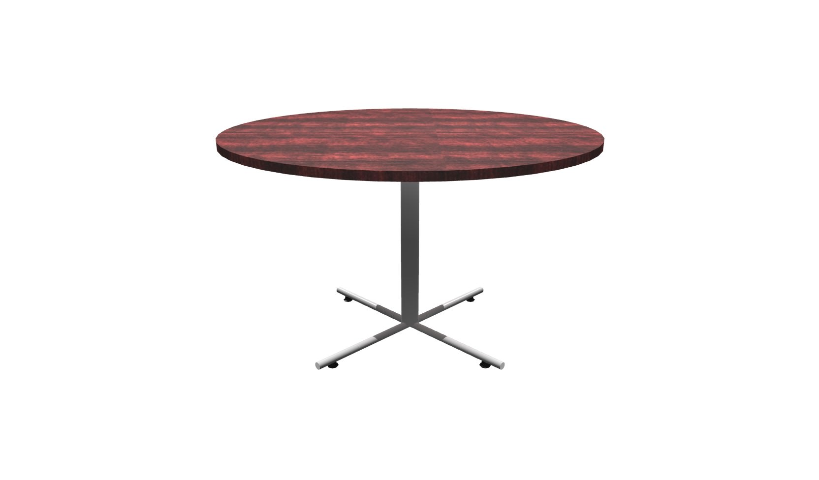 Inch Round Conference Table Mahogany Chrome - 48 inch round conference table