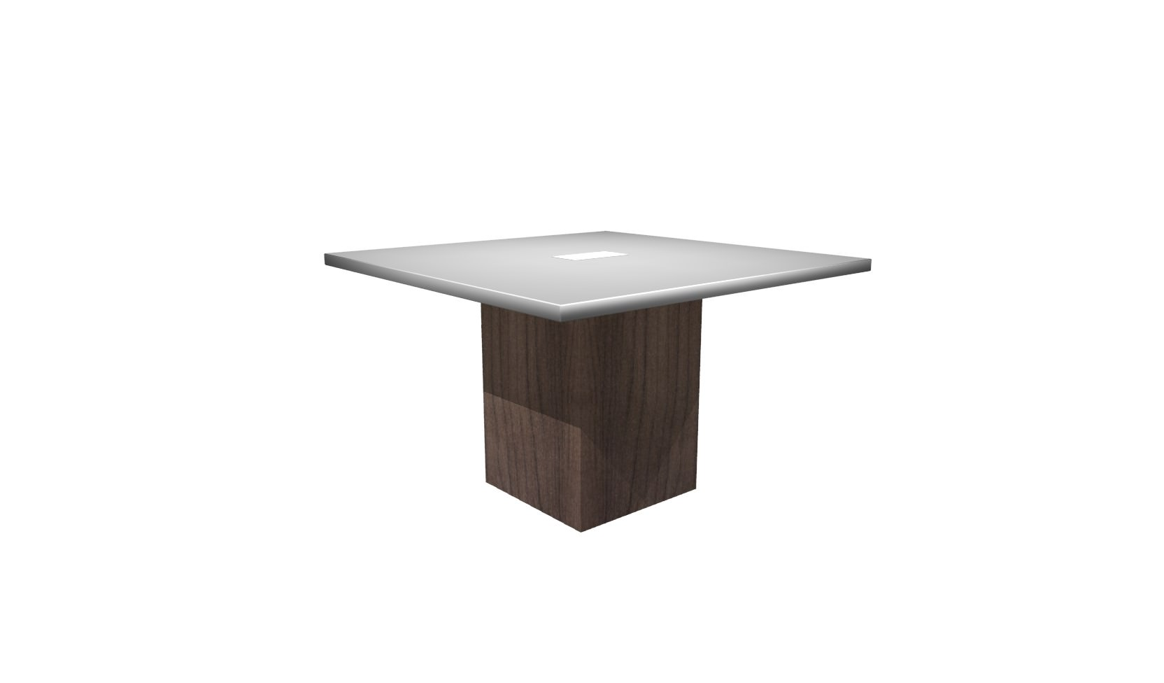 Inch Square Conference Table White Modern Walnut - White laminate conference table