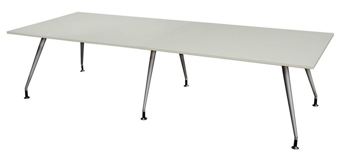 Modern Conference Table with Silver Metal Legs