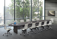 Racetrack Conference Table with Grommets