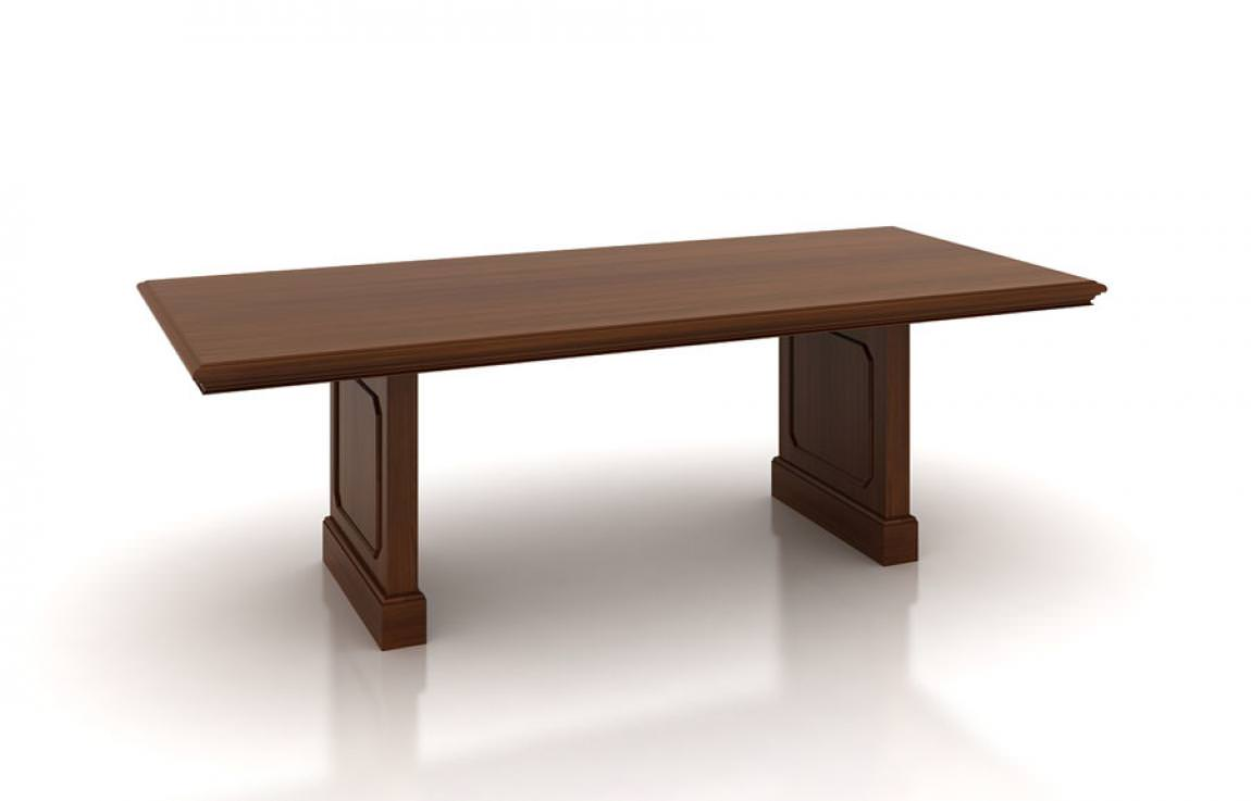 Traditional Conference Table with Panel Legs